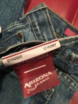 Boys Jeans Size 12 Husky Nwt Arizona Loose Straight AA87 image 3