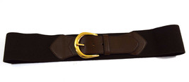 $48 Lauren Ralph Lauren Wide Stretch Belt Size XL in Chocolate - $27.85