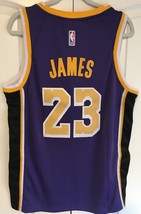 New Lebron James LA Lakers Stitched Purple Jersey New With Tags Sizes Me... - $45.99