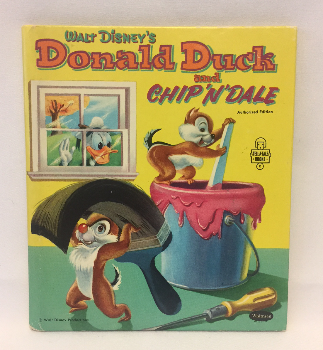 Disney's Donald Duck and Chip N Dale children's book Whitman vintage 1954