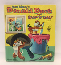 Disney's Donald Duck and Chip N Dale children's book Whitman vintage 1954 image 1