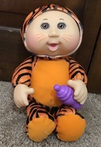"""Cabbage Patch 9"""" Plush Snugglies Tiger With Baby Bottle Thumbsucker 2014... - $12.00"""