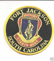 ARMY FORT JACKSON VICTORY STARTS HERE EMBROIDERED PATCH - $15.33