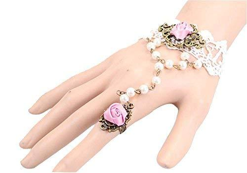 Complex Gulei Si Crystal Gemstone Bracelet Ring Jewelry, Purple Rose