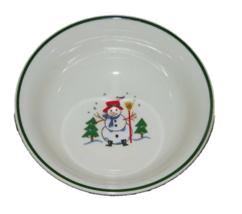 1 Pfaltzgraff Snow Village Christmas Snowman Cereal Soup Bowl 16256 - $14.84