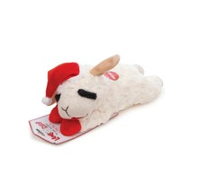 Holiday Lamb Chop Plush Toy for Dog 6 Inch Dog Toy squeaks Fun - $9.85