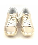 Zara Basic Collection Women's Sneakers 6.5/37 Gold Silver Low top Metall... - $39.42