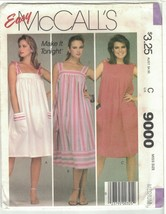 McCall's 9000 Easy Sundress Pattern With Pockets 1980s Size Medium 14 16 Uncut - $12.73