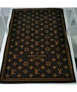 Louis Vuitton LV Beach Bath Towel Blanket Monogram Brown Cotton Auth New... - $1,245.25