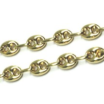18K YELLOW GOLD MARINER BRACELET 5 MM, 7.5 INCHES, ANCHOR ROUNDED OVAL LINK image 2