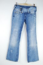 Diesel Cherock Distressed Boot Cut Jeans - Size 25 x 30 Actual - 27 x 28 - $29.09