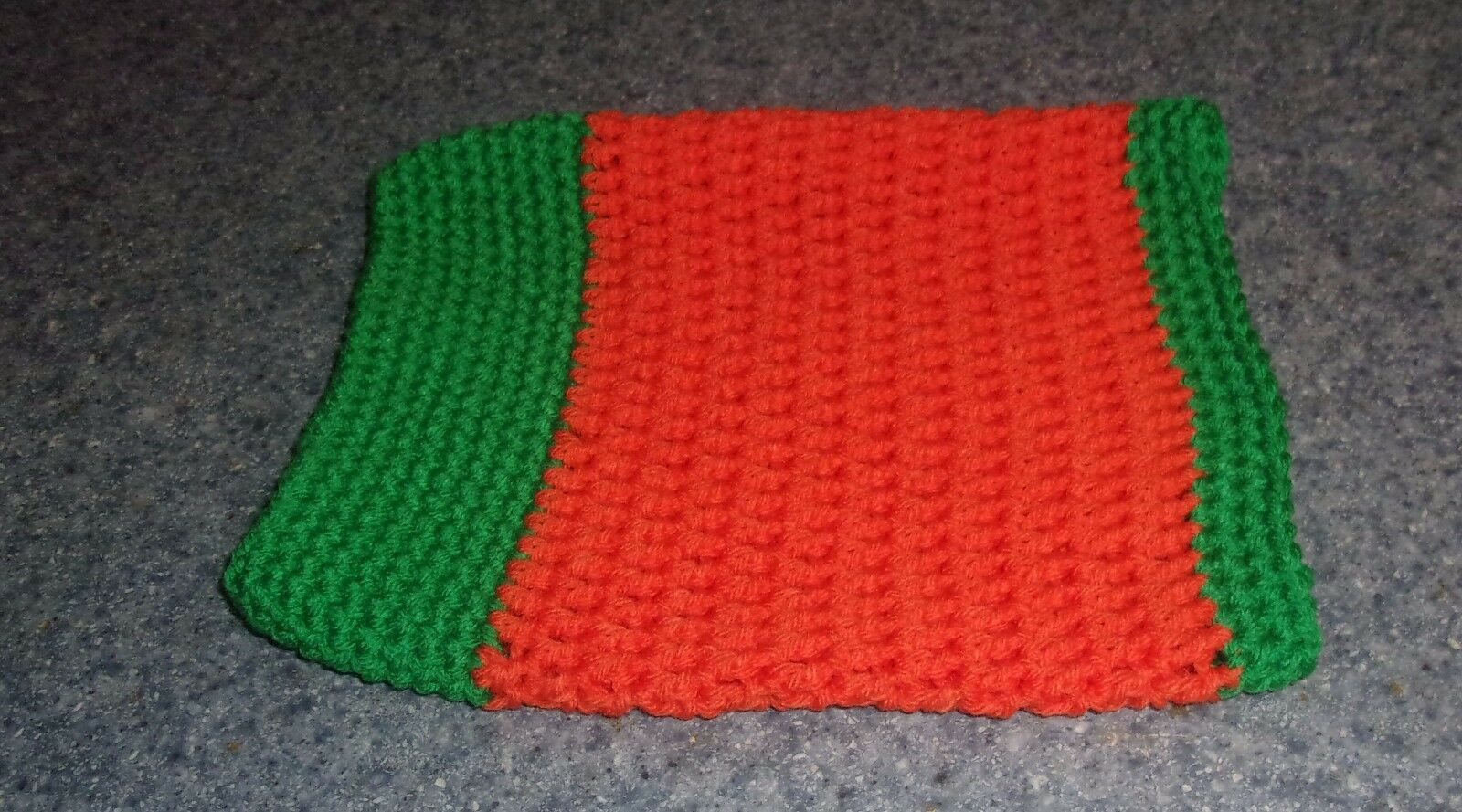 Brand New Hand Crocheted Orange Green Dog Snood Neck Warmer 4 Dog Rescue Charity