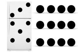 Refrigerator Vinyl Circles Domino Pattern Decals Polka Dot Fridge Sticke... - $24.70