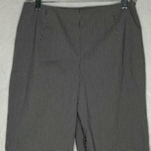 Ann Taylor Gingham Stretch Ankle Pants Womens 8 Black White Check - $22.44