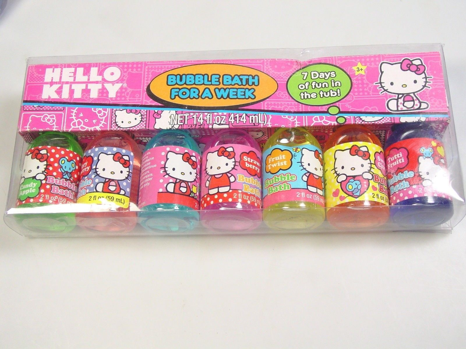 Hello Kitty Sanrio bubble Bath for a Week scented party favor good bag gift