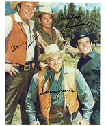 BONANZA - LANDON, GREENE & BLOCKER Signed Autographed Cast Photo w/COA 1321 - $350.00