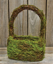 New Mossy Vine Wall / table Basket Spring Garden  - $21.78