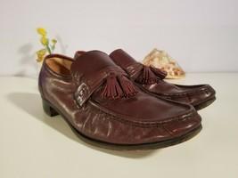 Bostonian Men Brown Burgundy Leather Tassel Slip-on Loafers Size 11M - $24.31