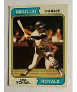 Topps 1974 Kansas City Royals Paul Schaal 3rd Base #514 Baseball Card Ve... - $4.99