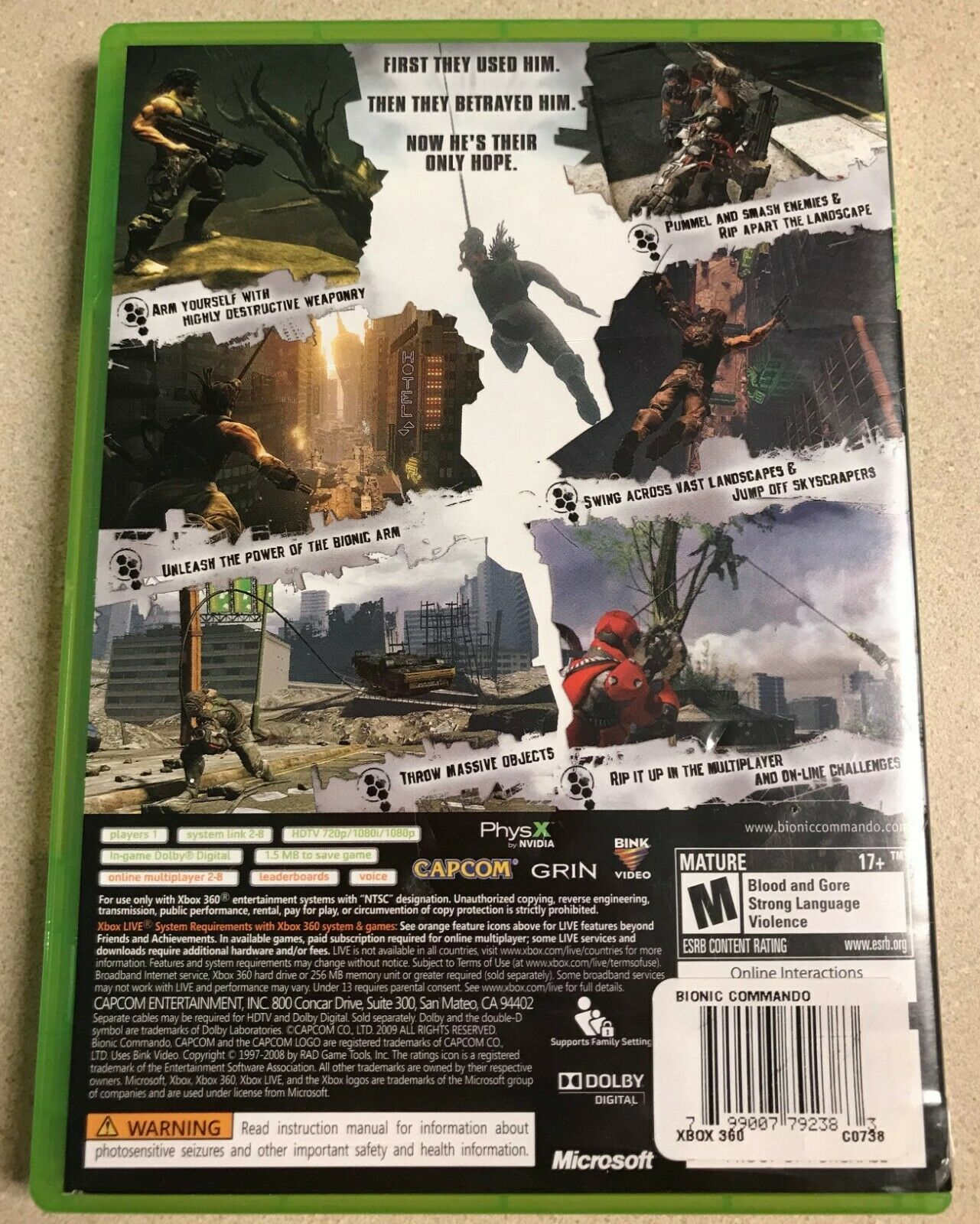 Bionic Commando (Microsoft Xbox 360, 2009) Game image 2