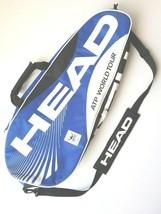 Head Tennis ATP World Tour Official Racquet Blue White Shoulder Carry Strap Bag - $39.27