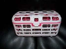 Munchkin Delux Dishwasher Basket - Pink & White - BPA Free EUC Set of 2 - $22.00