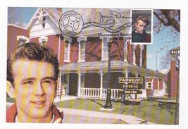 JAMES DEAN SECOND DAY OF ISSUE HOMETOWN CANCEL FAIRMOUNT IL 6/25/1996 PO... - $6.78