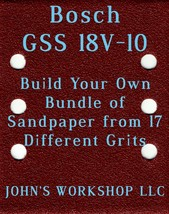 Build Your Own Bundle Bosch GSS 18V-10 1/4 Sheet No-Slip Sandpaper 17 Grits - $0.99
