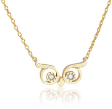 My Very Best Wise Owl Eye Necklace (Gold Plated Brass) - $54.76