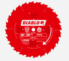 "Diablo 10"" Ripsaw SAW BLADE 24 Teeth Carbide Tip TiCo Perma Non-Stick D1... - $41.23"