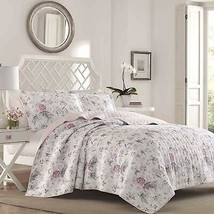 Laura Ashley Breezy Floral Quilt Set, Twin, Pink/Gray - $119.99+