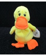 Ty Beanie Baby Quackers The Duck 4th Generation 3rd Tush Tag No Star CRE... - $14.84