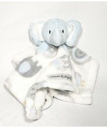 Blankets and Beyond Nunu Plush Blue Elephant Lovey Security Blanket - $20.00