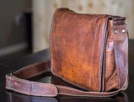 "NEW 13"" Men's Laptop Briefcase Vintage Soft Leather Brown Messenger Shou... - $34.60"