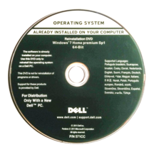 Dell Windows 7 Home Premium 64 Bit SP1 Full Version Only lot (1-5-10-50-... - $9.99+