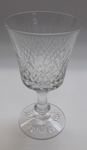 Fostoria Cut glass Goblet Made in USA  mouth blown - $13.99