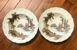 """2 Johnson Bros The Old Mill Soup Cereal Bowls 8"""" Replacements - $23.76"""