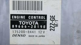 Toyota 2ZZ-GE MTX ECM ECU Engine Control Module 89666-20190, 175200-8441 image 3