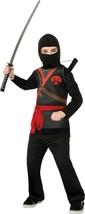 Brotherhood of the Dragon Ninja Child Costume Black Dress Up Large  - $6.92