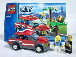 Lego 60001 Fire Chief Car City Set 99.9% Complete W Manual Only Missing ... - $10.77