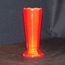 Red Vase (Frankoma 38) AA18 -1078 Vintage Ceramic image 1