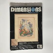 Dimensions Elegant Egrets Cross Stitch Kit Flowers Birds Lily Pond Vintage 90's  - $38.65