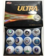 United States Government Set 12 Golf Balls Ultra NIB CIA Pentagon NSA GR... - ₹4,797.33 INR