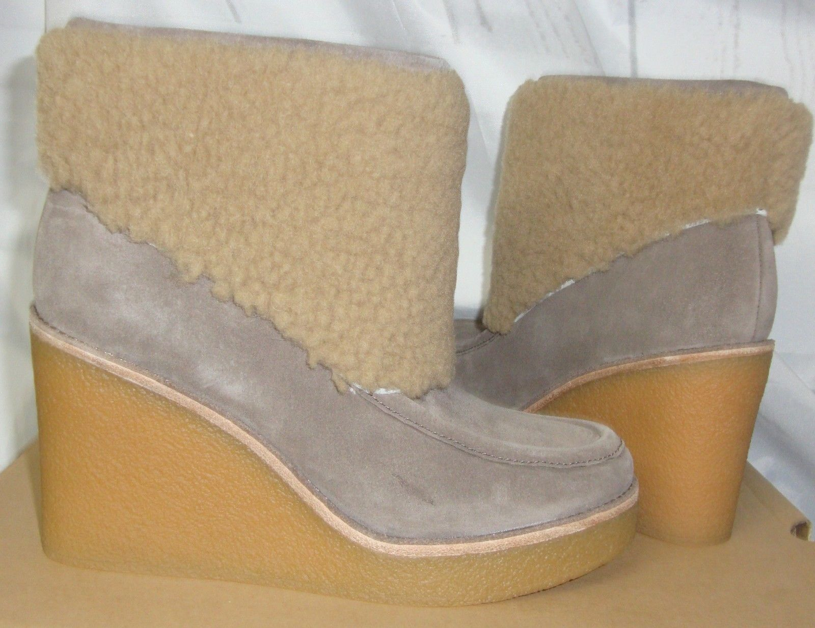 c9c0c443bad Ugg Coldin Mouse Suede Sheepskin Cuff Wedge and 50 similar items