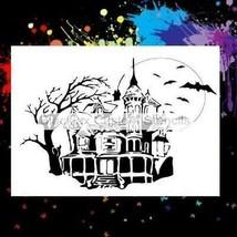 "NEW! 15""x12"" Stencil Haunted House Airbrush Stencil,Template - $15.88"