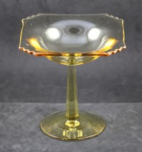 Mayfair, Line No. 2419 Blank, Topaz Comport, made by Fostoria Glass Co., 1931-40 - $20.00