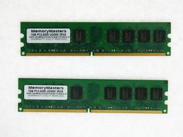 2 GB DDR2 PC2-5300 5300U DDR2-667 MHZ MEMORY DIMM PC DESKTOP RAM (2X1GB) 240 PIN