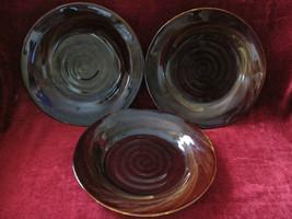 Sakura tortoise shell set of 3 dinner plates  - $44.50
