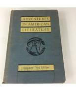 1941 Adventures in American Literature Third Ed. Inglis Gehlmann Bowman ... - $23.35