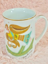 Georges Briard Coffee Mug Mid-Century MCM Christmas Fantasy Gold ANGEL G... - $29.60